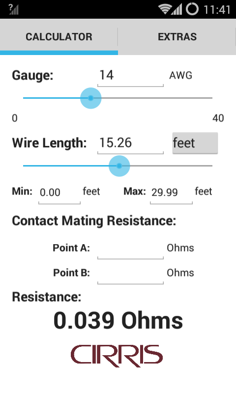 House wiring cable calculation wire resistance calculator android apps on google play greentooth Image collections