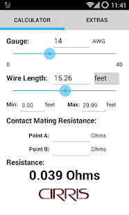 Wire resistance calculator android apps on google play wire resistance calculator screenshot thumbnail greentooth Image collections