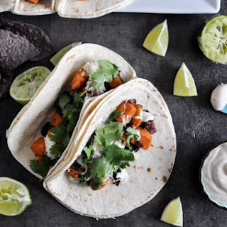 Smoky Sweet Potato and Black Bean Tacos.