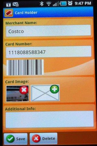 Card Holder- screenshot