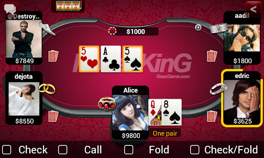 Texas holdem poker geaxgame poker king