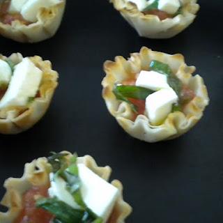 Tomato-Basil Jam Filled Mini Phyllo Shells