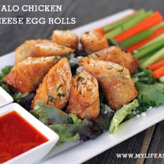 Buffalo Chicken Blue Cheese Egg Rolls
