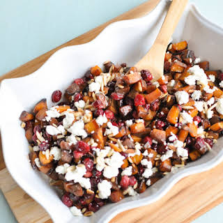 Roasted Butternut Squash and Cranberries.