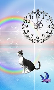 Cute BL&WH Cat-Live Wallpaper - screenshot thumbnail