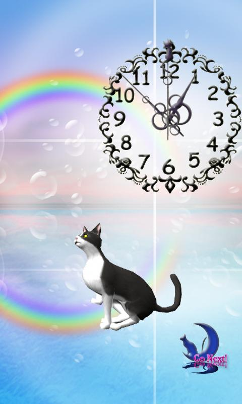 Cute BL&WH Cat-Live Wallpaper - screenshot