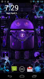 Steampunk Droid Live Wallpaper- screenshot thumbnail