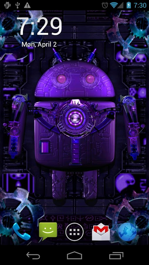 Steampunk droid live wallpaper android apps on google play - Droid live wallpaper ...