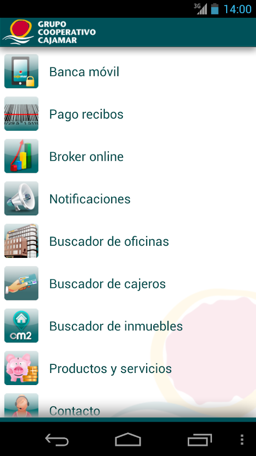 Grupo Cooperativo Cajamar - screenshot