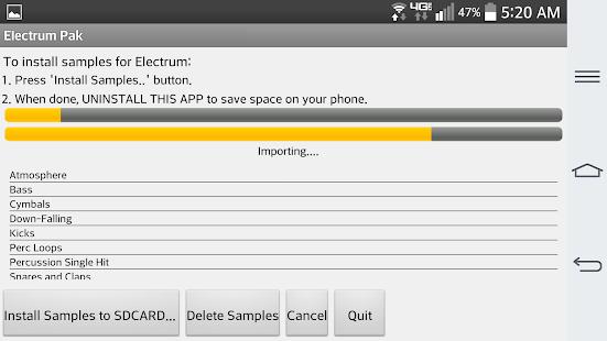 Electrum Pak Drumhits Screenshot 2