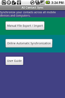 Screenshot of Contact Synchronizer Android1x