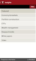 Screenshot of Vanguard for Advisors