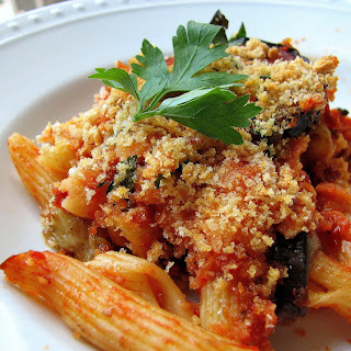 Baked Penne with Eggplant.