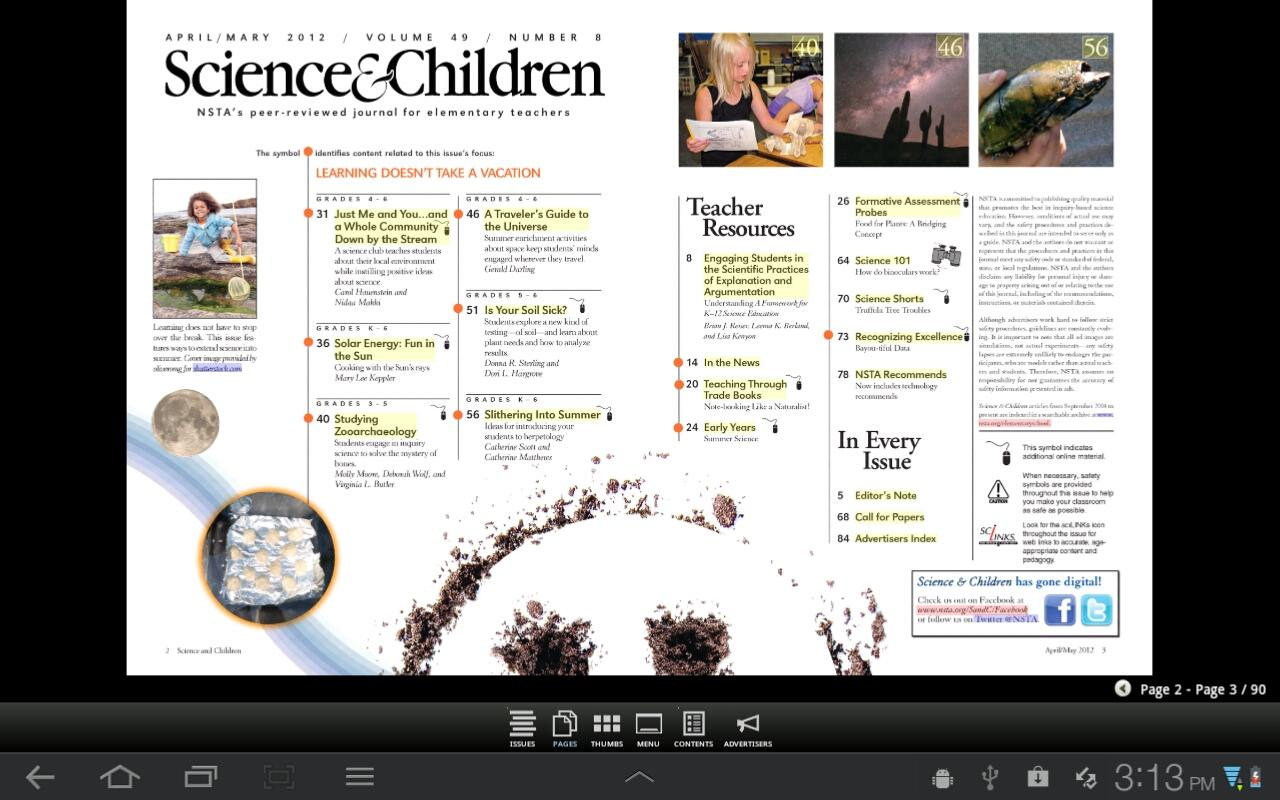 Science & Children Magazine - screenshot