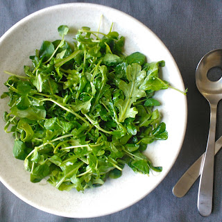 Pea Shoot and Baby Arugula Salad with Meyer Lemon Vinaigrette