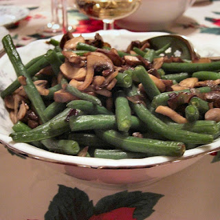 Low Calorie Mushrooms and Green Beans recipe – 176 calories.