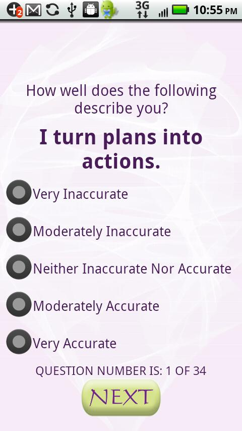 Know Yourself Personality Test - screenshot