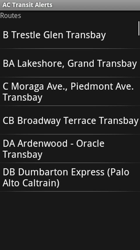 AC Transit Alerts - screenshot