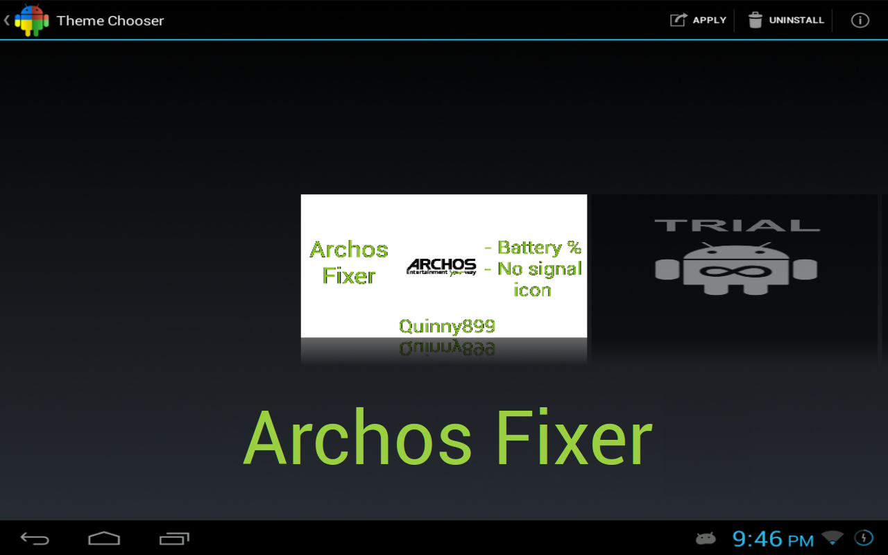 Archos Fixer CM9/10/AOKP Theme - screenshot