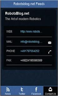 RobotsBlog News Feeds- screenshot thumbnail