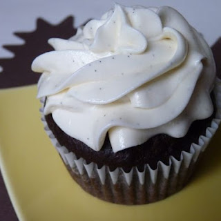 Vegan Chocolate Cupcakes with Vanilla Bean Frosting.