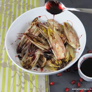 Grilled Belgian Endive With Pomegranate Gastrique.