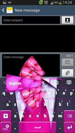 GO键盘粉红色的思考