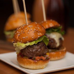 Mini Burgers by Jim DeMicco - Food & Drink Plated Food ( mini burgers, burger, bun, meat, burgers )