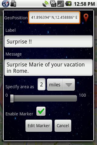 GeoTask Alert System - screenshot