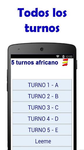 5 TURNOS AFRICANO