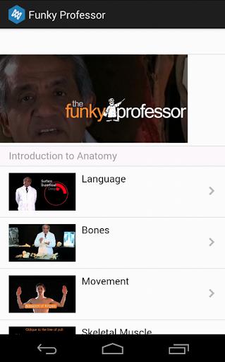The Funky Professor Anatomy