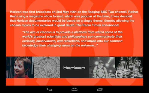 BBC 50 Years of Horizon- screenshot thumbnail