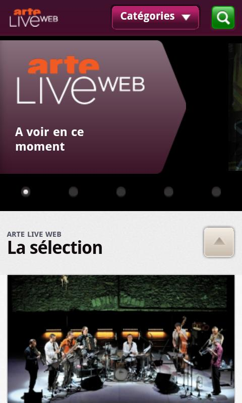 ARTE Live Web - screenshot