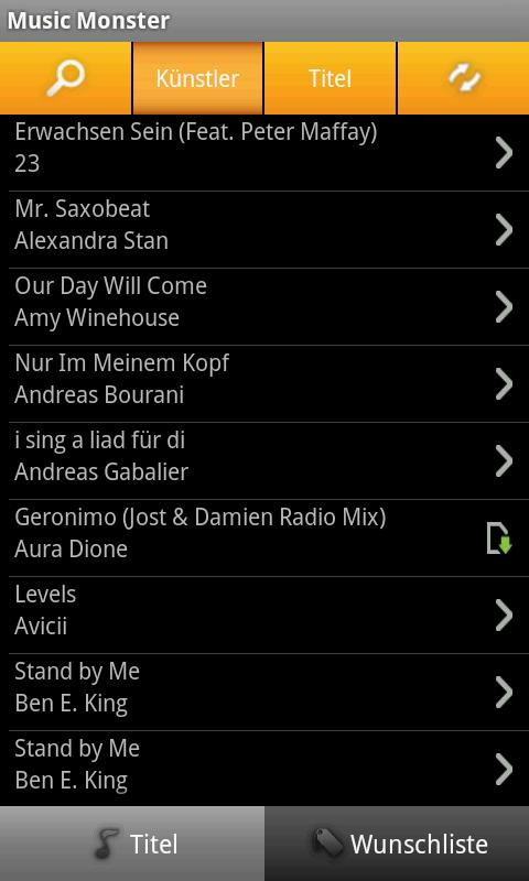 MusicMonster.FM - screenshot