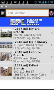 Elizabeth (NJ) Public Library- screenshot thumbnail