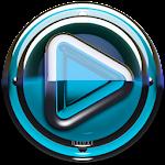 Poweramp skin Light Blue Glas v1.33