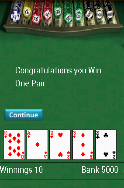 free five card draw poker