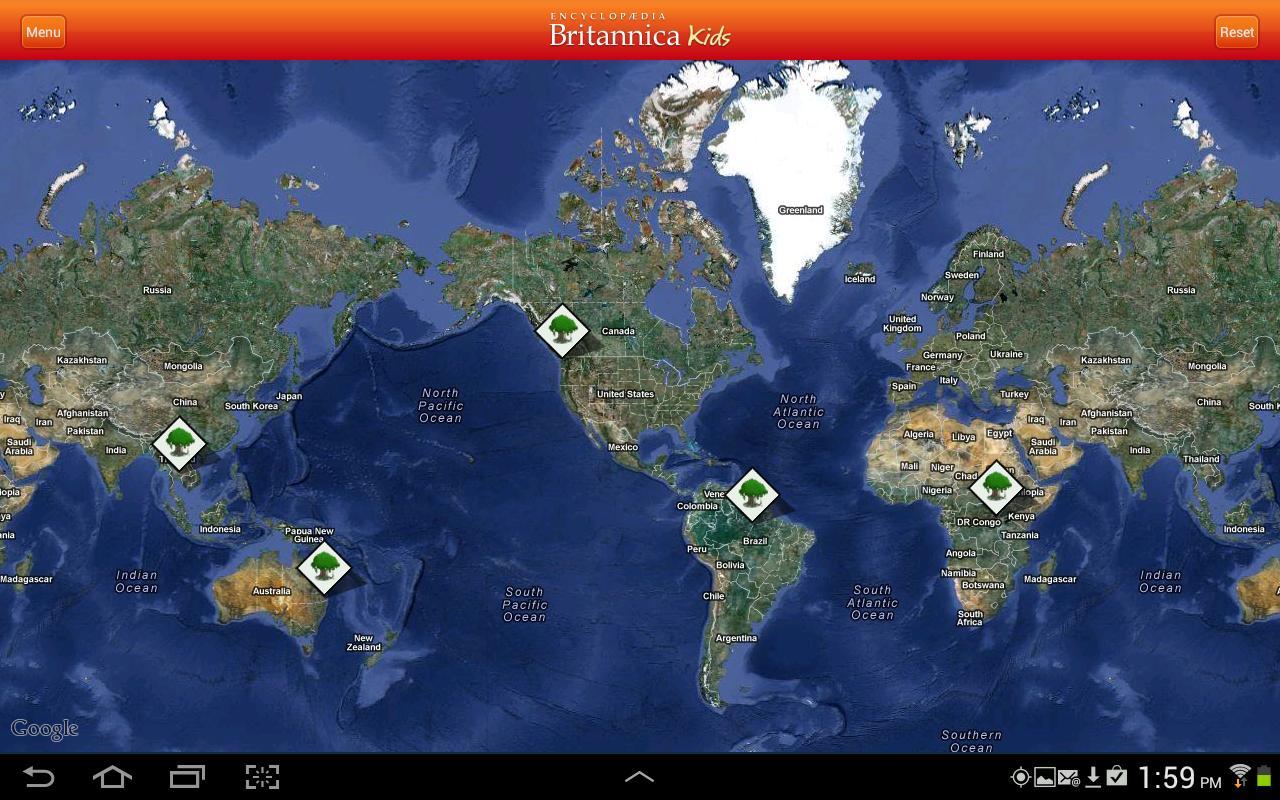 Britannica Kids: Rainforests- screenshot