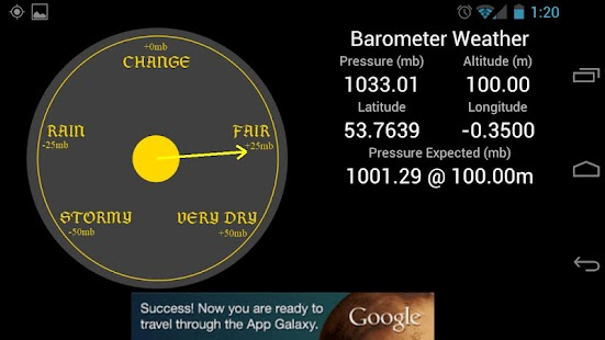 Weather Barometer - screenshot thumbnail