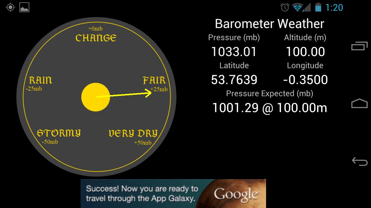 Weather Barometer- screenshot
