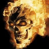 Skull In Fire Live Wallpaper