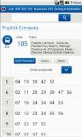 Screenshot of MPK Kraków Rozkład Jazdy