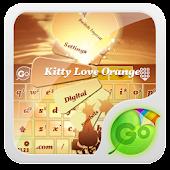 Kitty Love Orange GO Keyboard