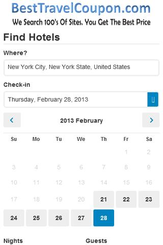 Travel Search Engine - screenshot
