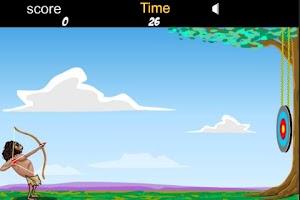 Screenshot of Caveman Games (archery)