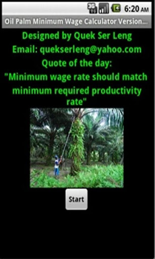 Oil Palm Minimum Wage Calc