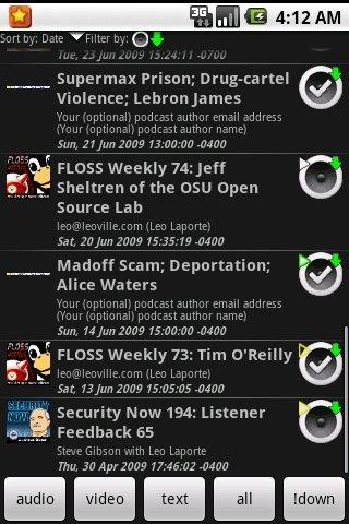 ACast - screenshot