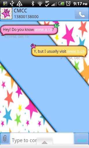 GO SMS THEME CrazyStarsCPK
