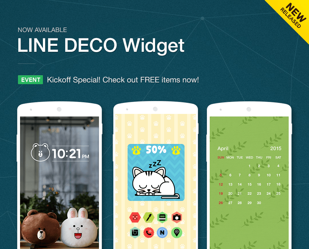 Wallpapers, Icons - LINE DECO - screenshot