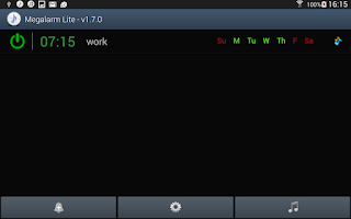 Screenshot of Music Alarm Megalarm Lite